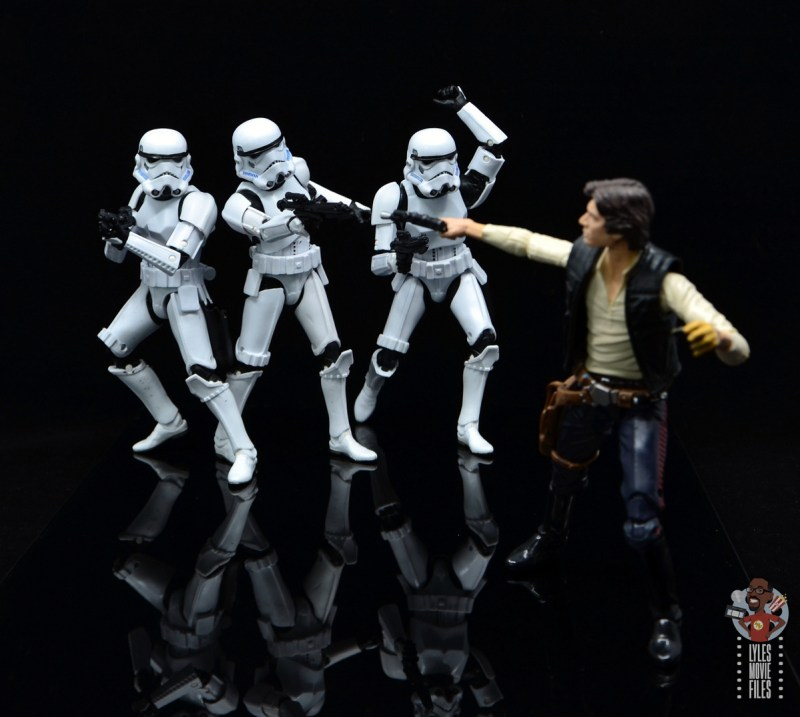 star wars the black series stormtrooper figure review - gunning for han solo