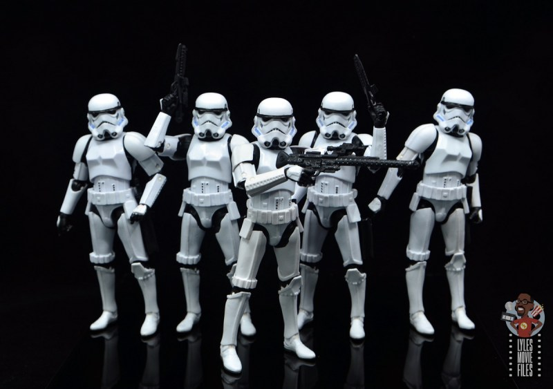 star wars the black series stormtrooper figure review - squadron of stormtroopers