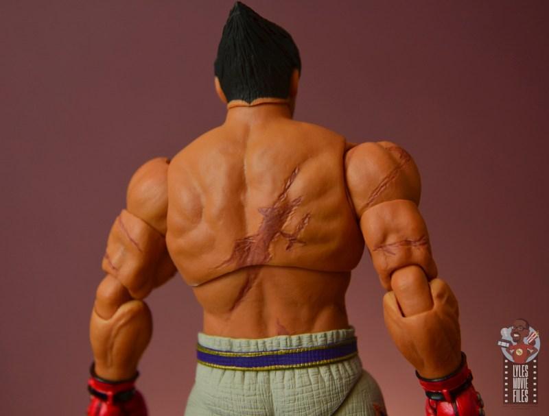 storm collectibles tekken 7 kazuya figure review - back detail