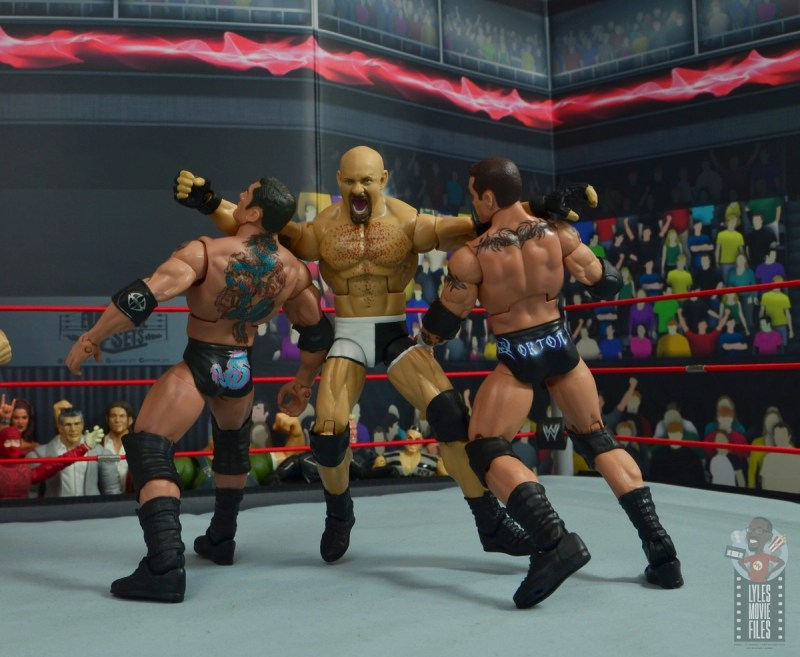 wwe elite #74 goldberg figure review - double clothesline to evolution
