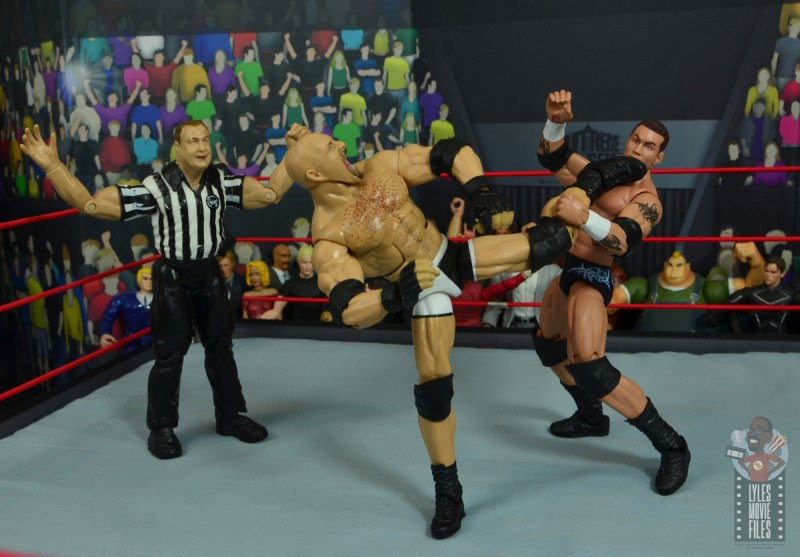 wwe elite #74 goldberg figure review - savate kick to randy orton
