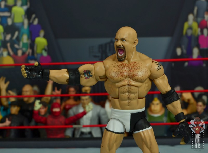 wwe elite #74 goldberg figure review - tattoo detail