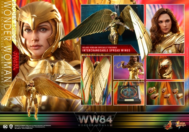 hot Toys Wonder Woman 1984 golden armor figure -deluxe collage