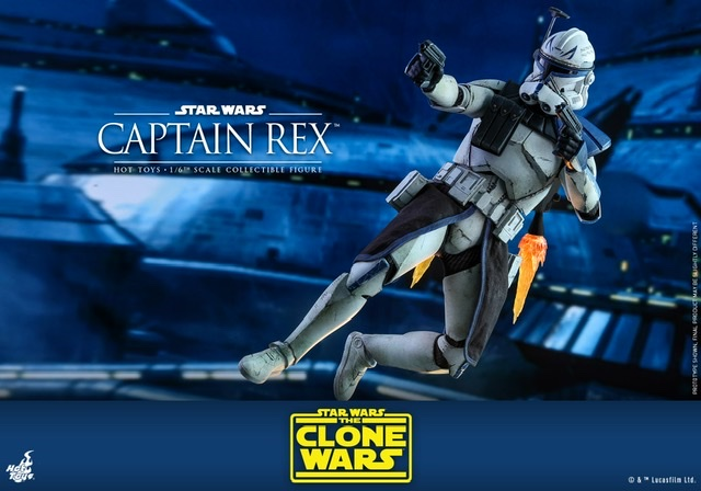 Hot Toys Star Wars clone wars figure -Flying