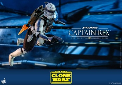 Hot Toys Star Wars clone wars figure -Using jetpack