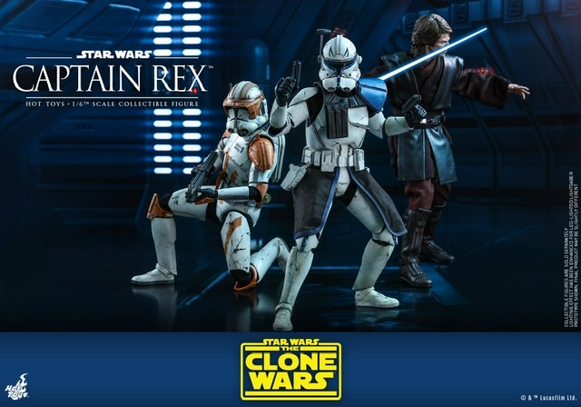 Hot Toys Star Wars clone wars figure -With commander Cody and anakin