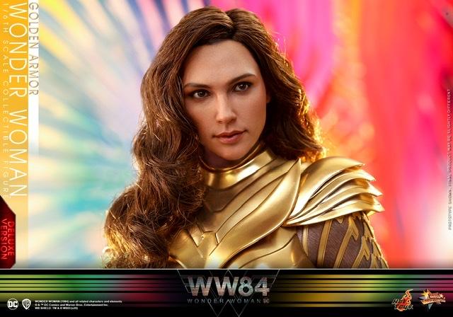 hot Toys Wonder Woman 1984 golden armor figure -hair closeup
