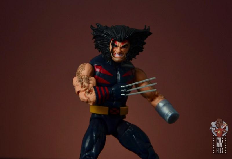 marvel legends age of apocalypse weapon x figure review - close up shot
