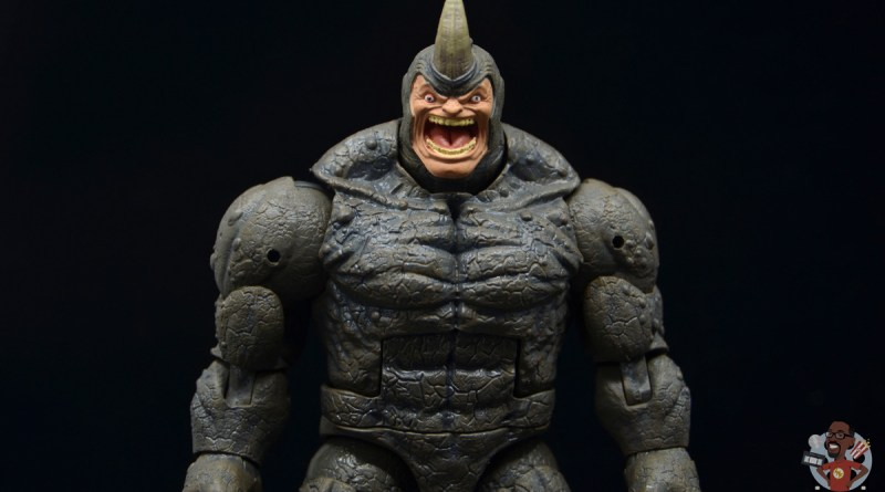 marvel legends build-a-figure rhino figure review - main pic