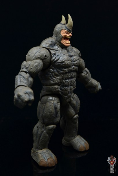 marvel legends build-a-figure rhino figure review - right side