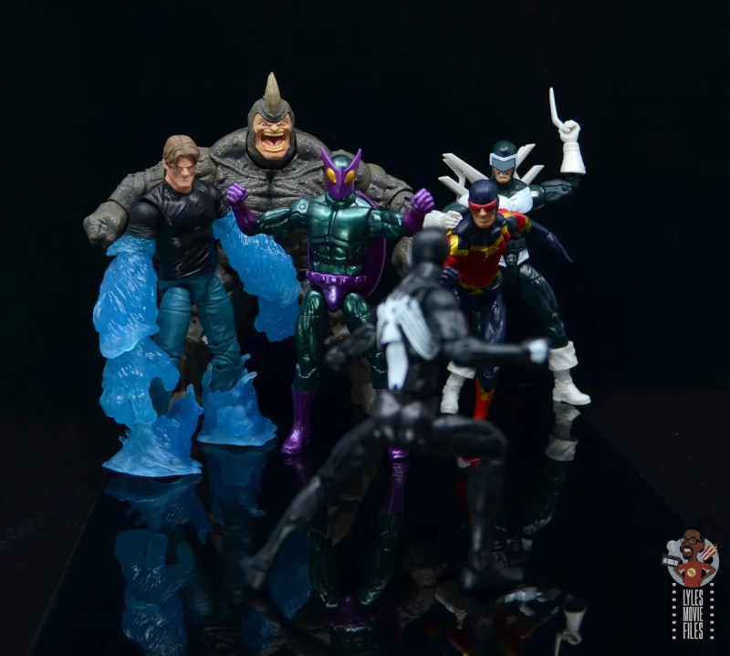 marvel legends build-a-figure rhino figure review - with sinister syndicate
