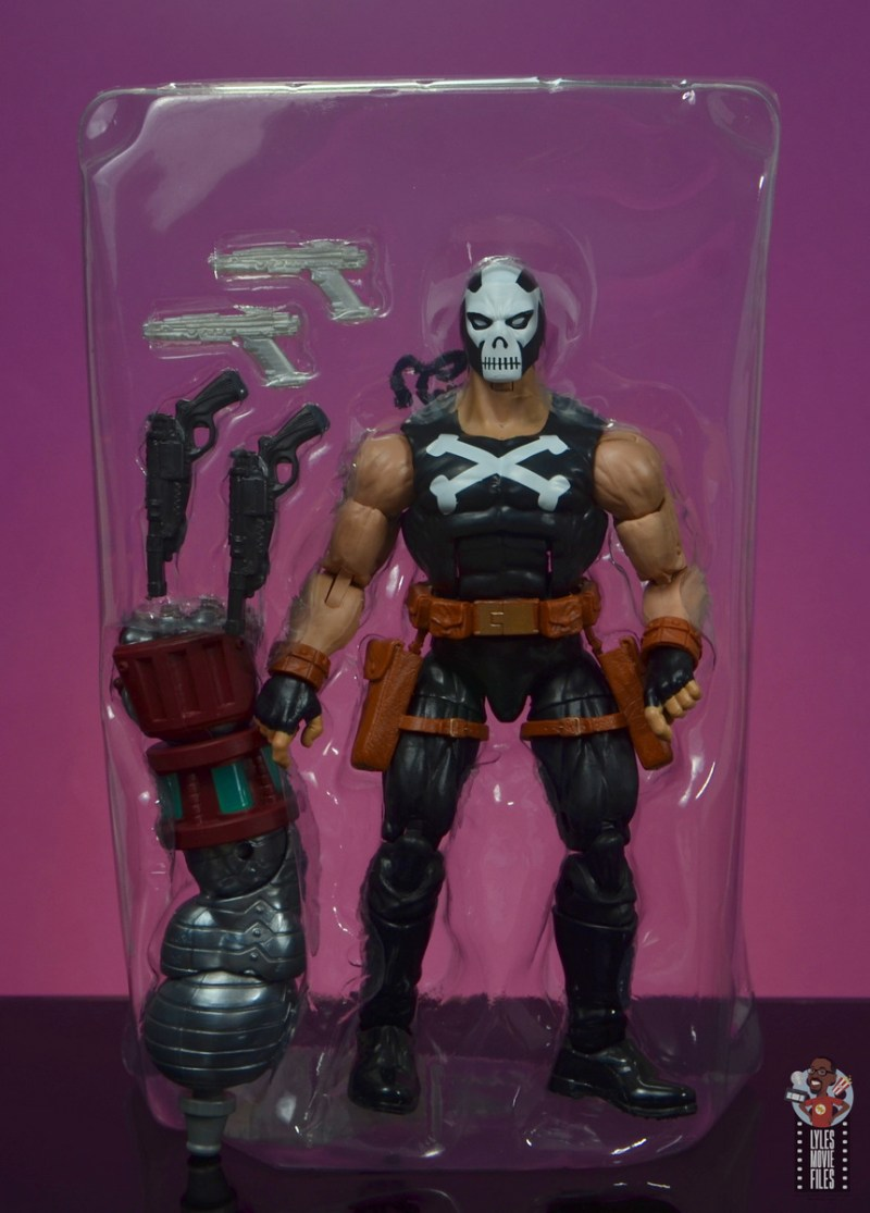 marvel legends crossbones figure review - accessories in tray