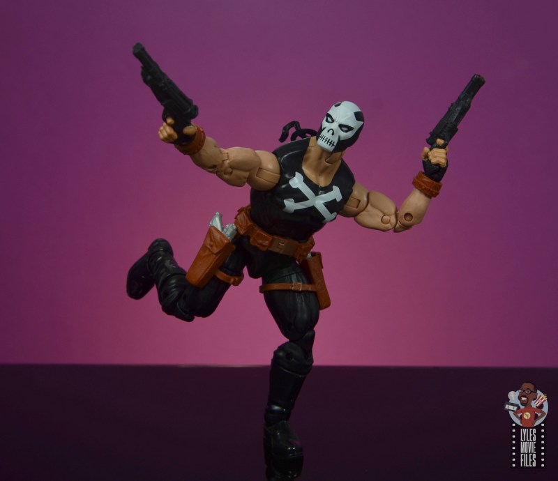 marvel legends crossbones figure review - on the run