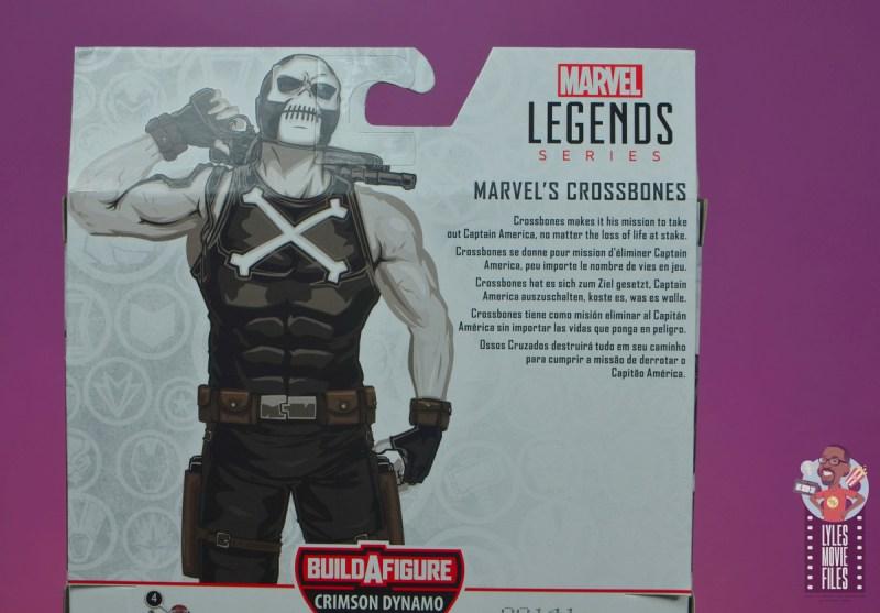 marvel legends crossbones figure review - package bio