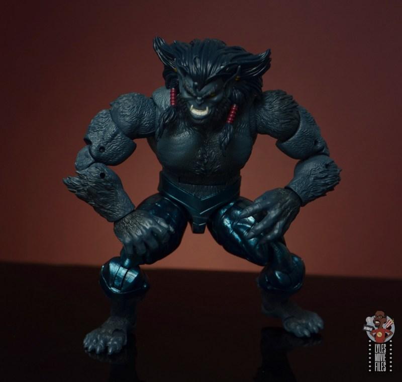 marvel legends dark beast figure review - crouching