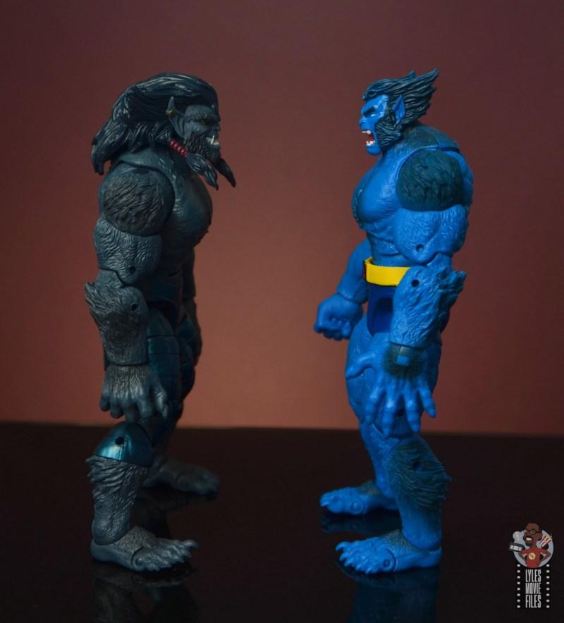 marvel legends dark beast figure review - facing beast