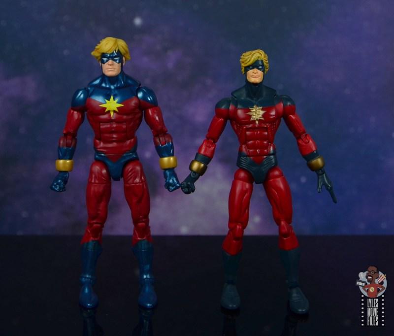 marvel legends mar-vell figure review -next to toy biz captain marvel