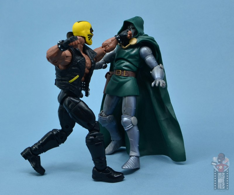 marvel legends rage figure review - punching doctor doom