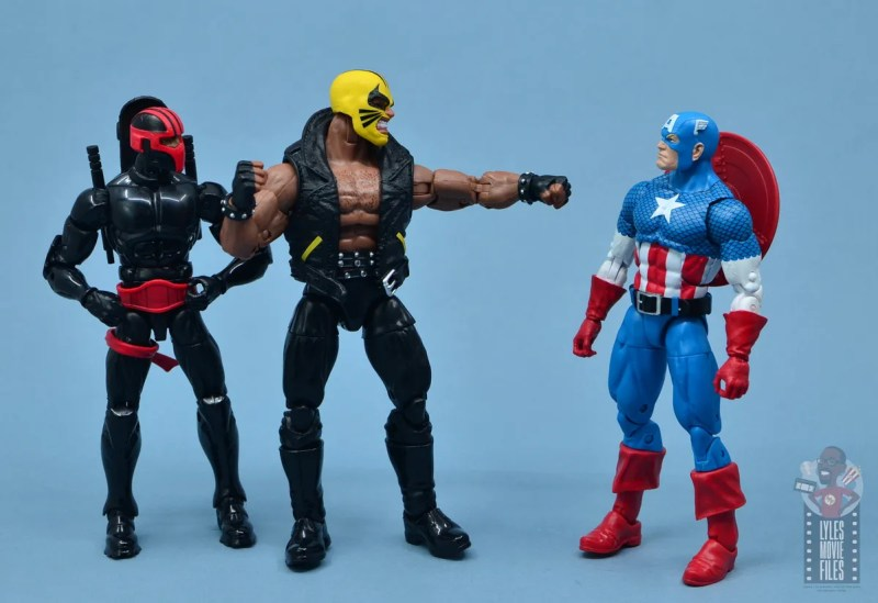 marvel legends rage figure review - siding with night thrasher over captain america