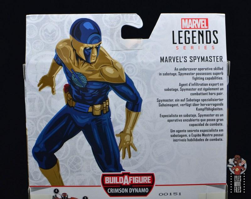 marvel legends spymaster figure review - package bio