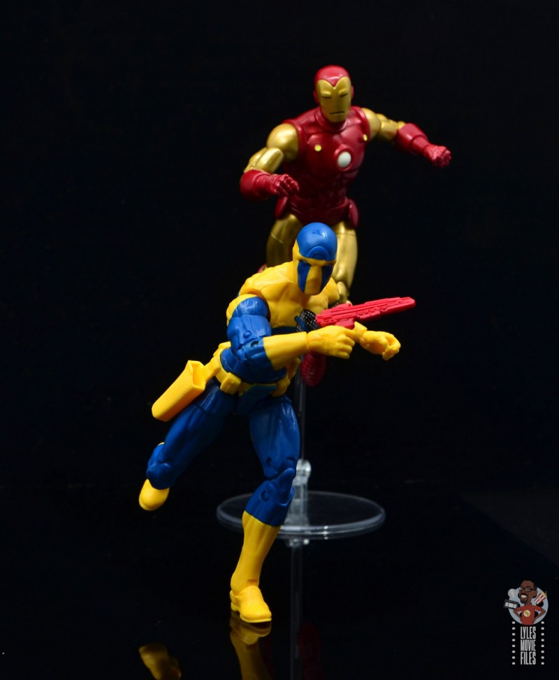 marvel legends spymaster figure review - running from iron man