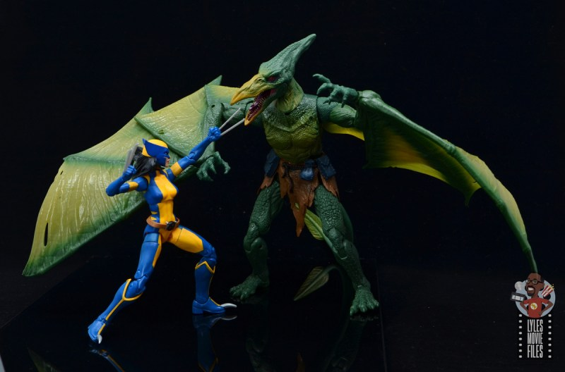 marvel legends wolverine figure review - facing off with sauron