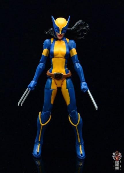 marvel legends wolverine figure review - front