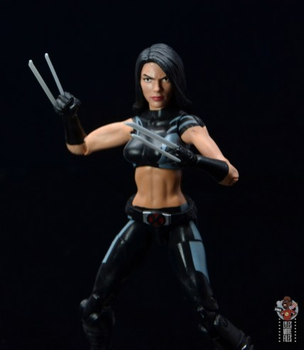 marvel legends wolverine figure review -unmasked head on x-23 body