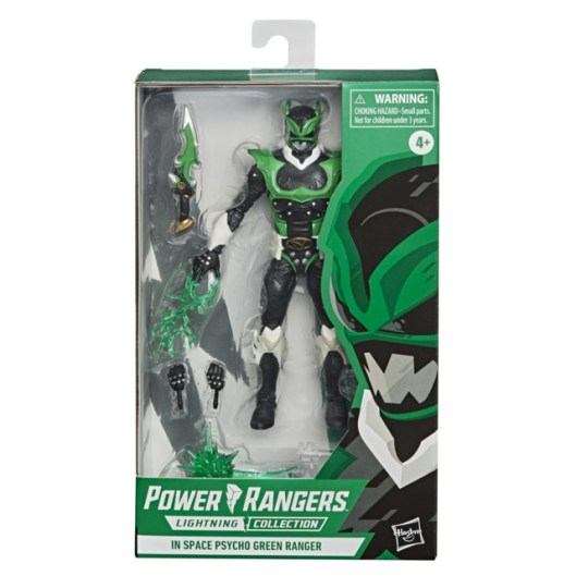 power rangers lightning collection space psycho green ranger - front package