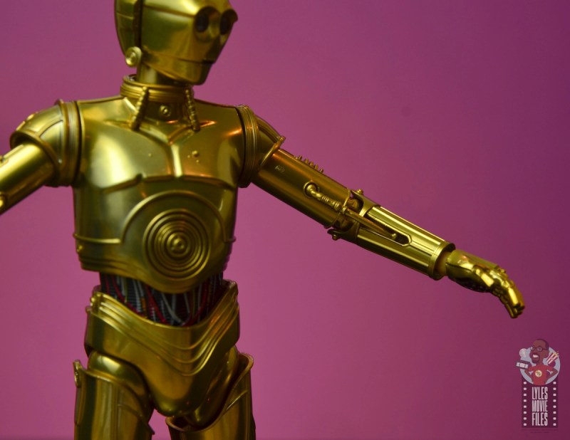 sh figuarts star wars c-3p0 figure review -elbow articulation