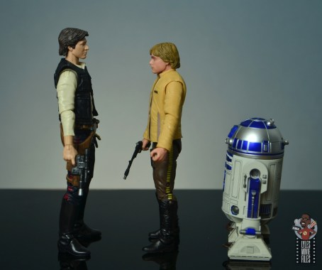 star wars the black series yavin celebration luke skywalker figure review - facing han solo and r2d2