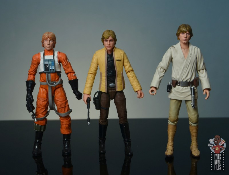 star wars the black series yavin celebration luke skywalker figure review - with hasbro and figuarts luke