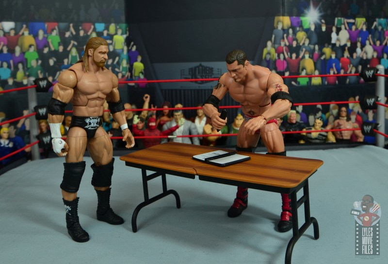 wwe elite hall of champions batista figure review -signing contract