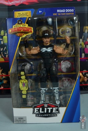 wwe elite hall of champions road dogg figure review - package front