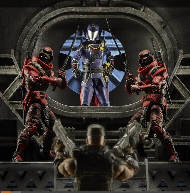 G.I. Joe Classified Series 6-Inch Red Ninja Action Figure - flanking cobra commander