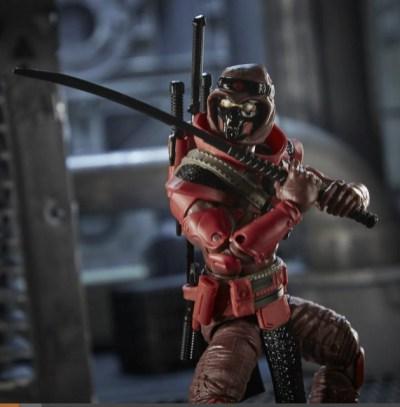 G.I. Joe Classified Series 6-Inch Red Ninja Action Figure - sword drawn