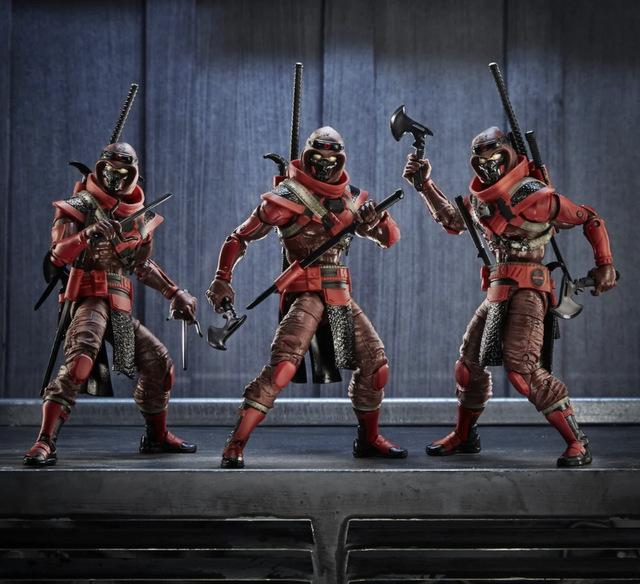 G.I. Joe Classified Series 6-Inch Red Ninja Action Figure - trio of ninjas