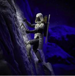 G.I. Joe Classified Series Arctic Mission Storm Shadow figure - scaling mountain