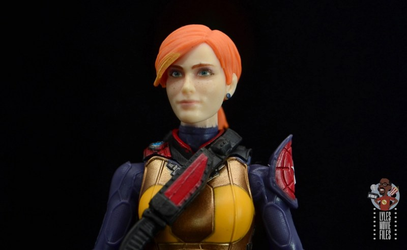 gi joe classified scarlett figure review - headsculpt detail