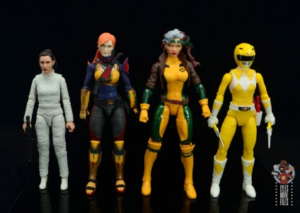 gi joe classified scarlett figure review - scale with princess leia, rogue and yellow ranger
