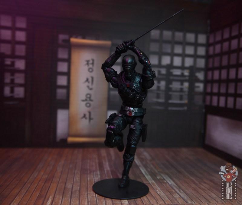 gi joe classified series snake eyes figure review - raising katana