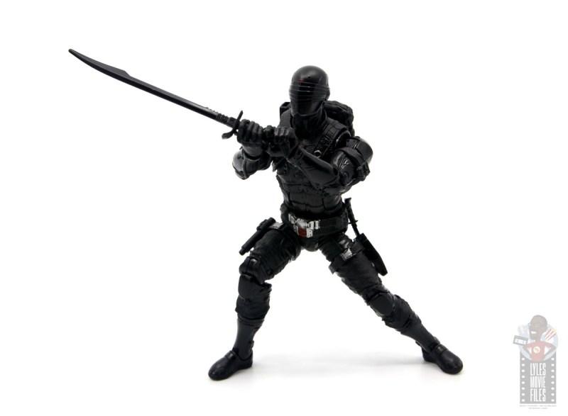 gi joe classified series snake eyes figure review - sword slash