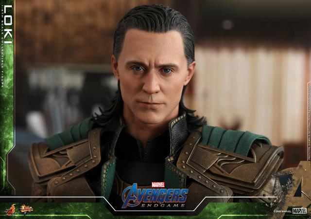 hot toys avengers endgame loki figure - headsculpt detail