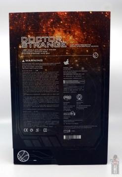 hot toys avengers infinity war doctor strange figure review -package rear