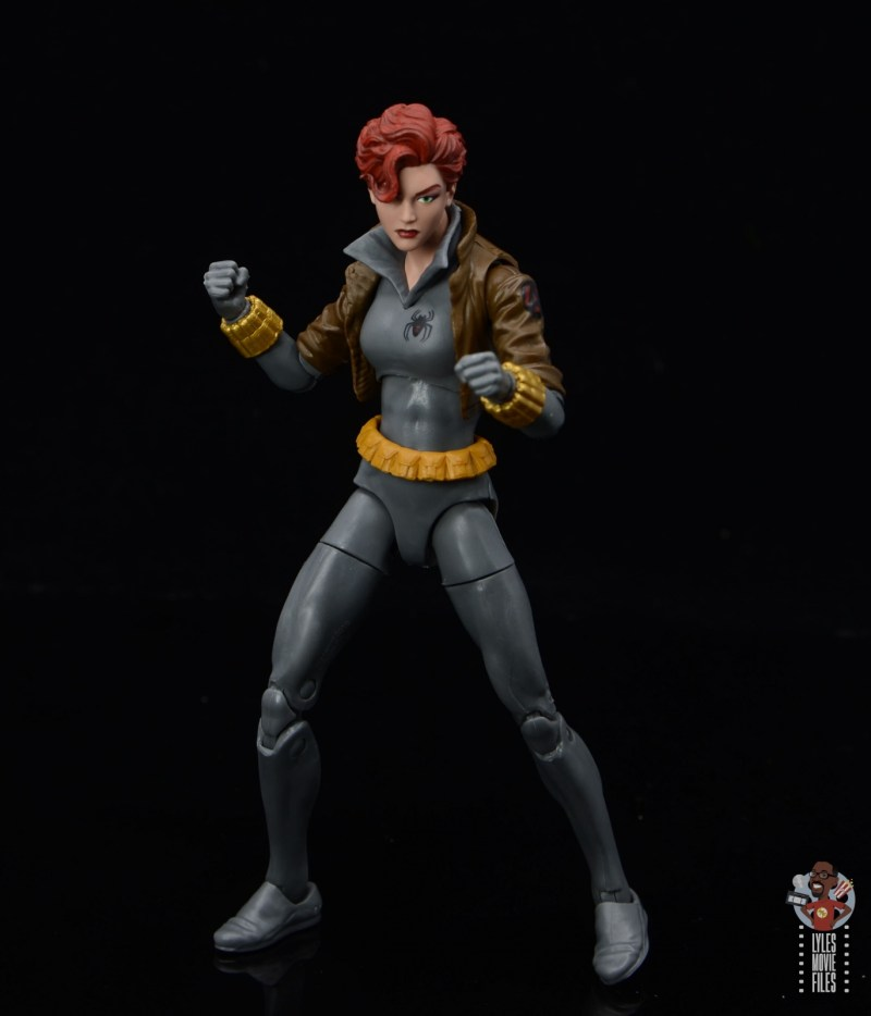 marvel legends black widow wal-mart exclusive figure review - ready for battle