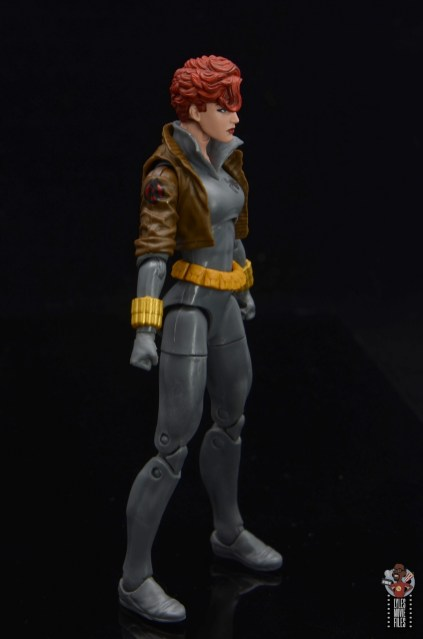 marvel legends black widow wal-mart exclusive figure review - right side
