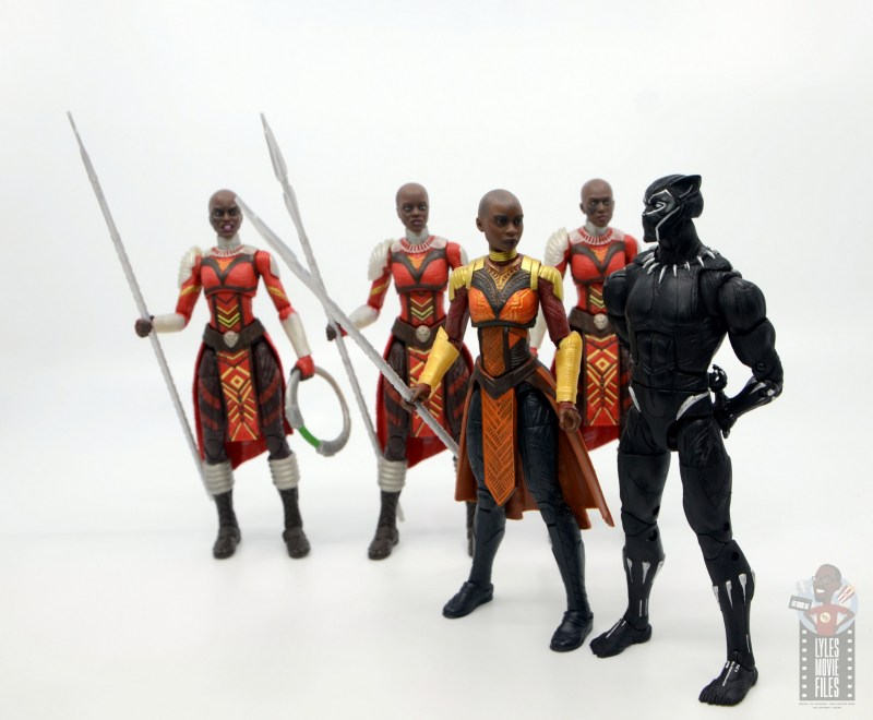 marvel legends build a figure okoye figure review -briefing black panther