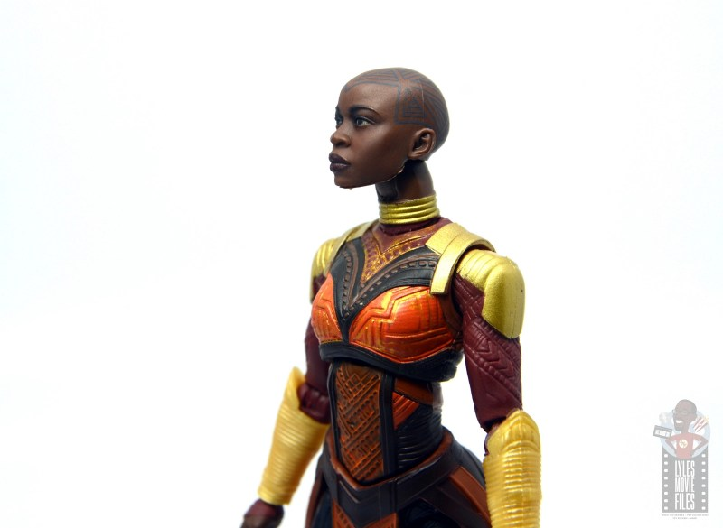 marvel legends build a figure okoye figure review -looking up