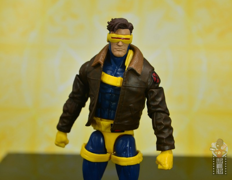 marvel legends cyclops, jean grey and wolverine set review - cyclops main shot