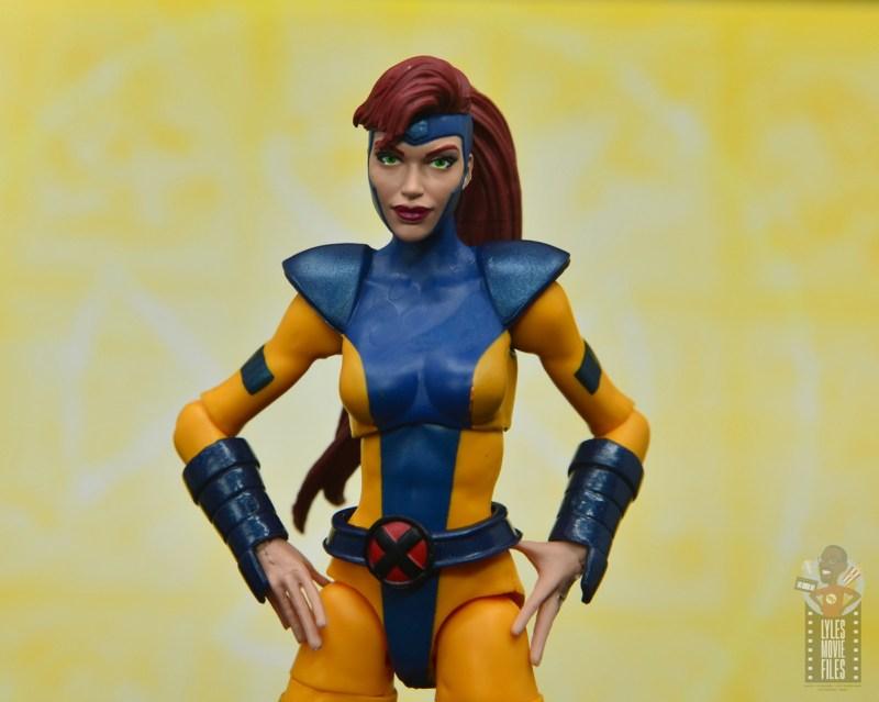 marvel legends cyclops, jean grey and wolverine set review - jean grey alternate head sculpt